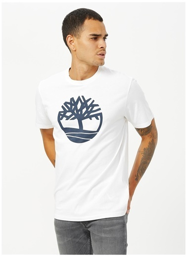 Timberland Timberland TB0A2C2R1001 SS Kennebec River Tree Logo T-Shirt Beyaz